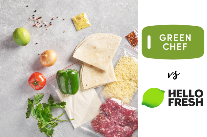 Green Chef vs HelloFresh - best meal kit delivery service