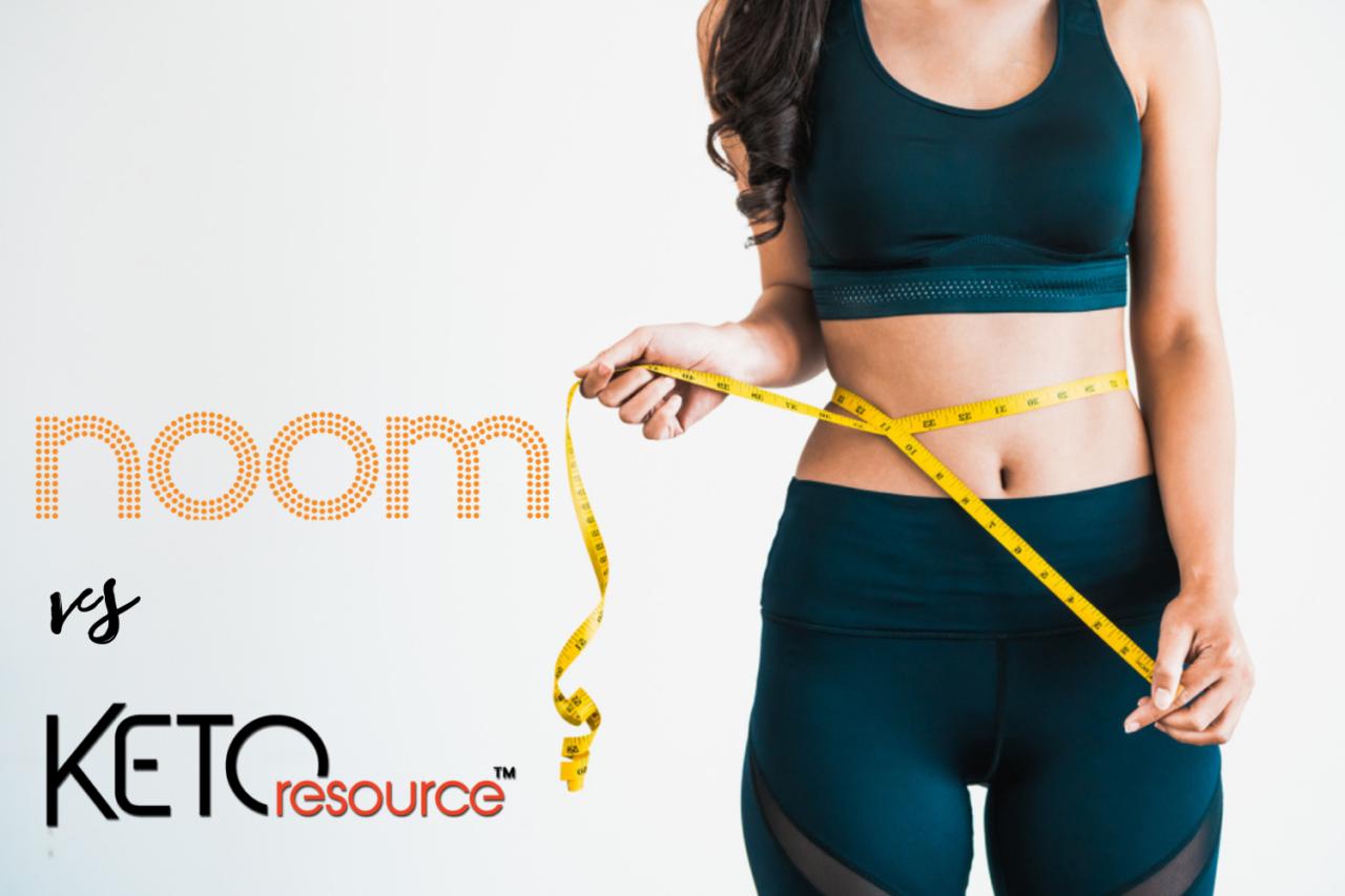 Noom vs keto - best diet for easy weightloss