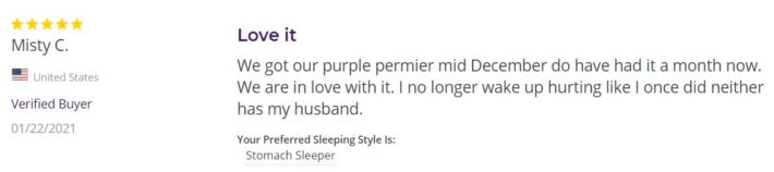 purple Mattress review online