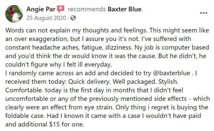 Baxter Blue Reviews Customer