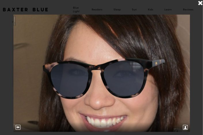 Baxter Blue Review - virtual try on