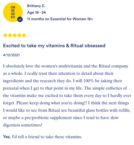 Ritual Essentials for Women Review