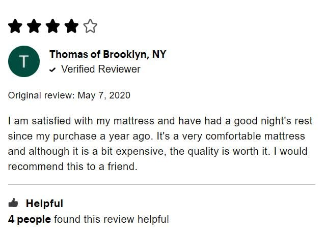 Purple Customer Review