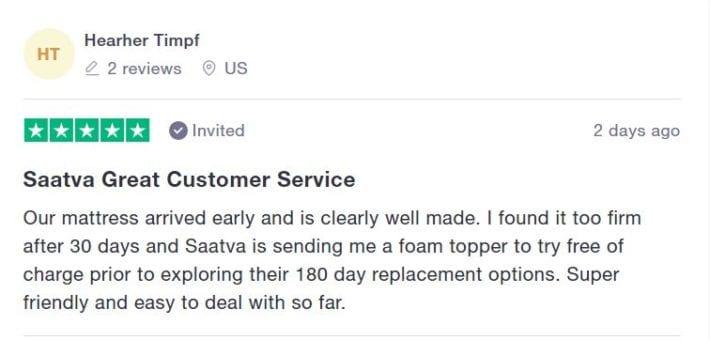 Saatva Customer Review