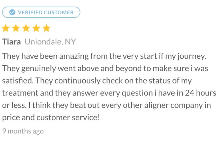 Alignerco customer Review