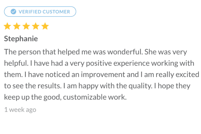 New Smile Customer Review