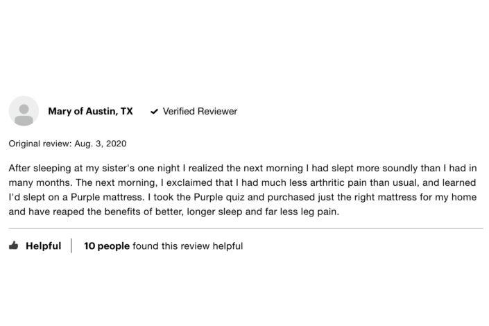 Purple Mattress Review 2